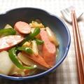 白菜とウインナーのオイスターマヨ炒め☆