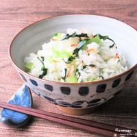 Wカルシウムごはん。『小松菜ご飯』