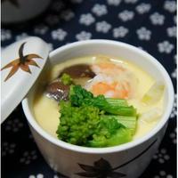 牡蠣のピリ辛中華風茶わん蒸し(フライパン使用)