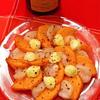 帆立と柿のカルパッチョ