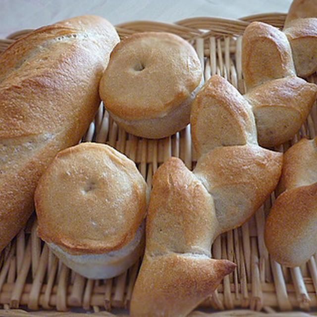 3種のフランスパン