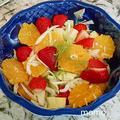 フェンネルとフルーツのサラダレシピ Trader Joe'sのホワイト バルサミコビネガーを使いました。