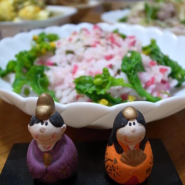 ひなまつり☆収穫野菜deピンクちらし寿司