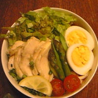 ・簡単レモン鶏でトマサラダうどん②レシピブログの「肉×麺 アレンジ麺レシピコンテスト」