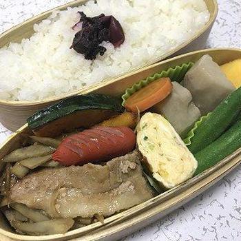 豚バラ肉とゴボウ炒め弁当