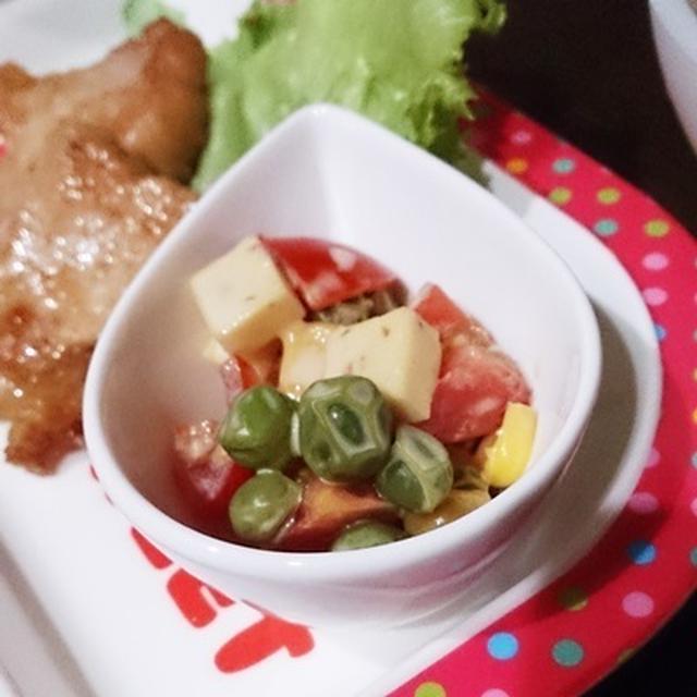 和風マセドアンサラダ☆ と、干し貝柱とタコの冷製パスタ! #ホシサン #にたき一番