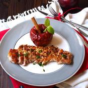 豚肉のスパイス焼き〜まるごとりんごソース