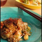 超ごはんがススム系!鶏ムネ肉の甘酢ネギだれと、牡蠣の土手鍋風