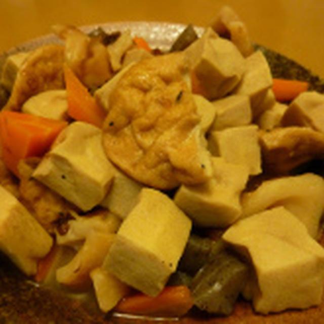 高野豆腐+チンゲンサイと豆腐のあんかけ