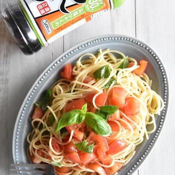 トマトとバジルの和風冷製パスタ♡