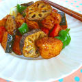 彩り野菜たっぷりのバルサミコ酢鶏♪大戸屋さんの人気メニューをアレンジ by みぃさん