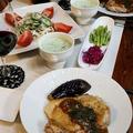 ◆チキンソテーとゴーヤサラダのおうちごはん♪ by fellowさん