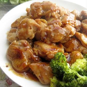 鶏肉ソテーのメイプルマスタード
