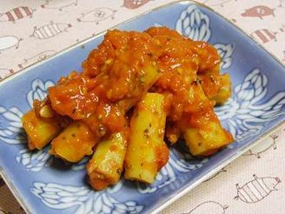☆新ごぼうのトマト煮☆