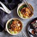タマノイ酸辣麻婆で、厚揚げとチンゲン菜のあんかけ炒め by naomiさん