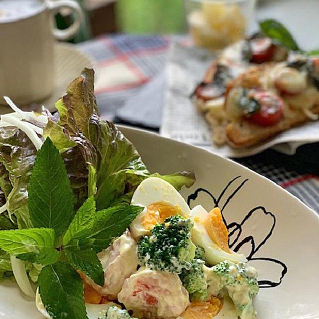 「福島クッキングアンバサダー」ブロッコリーでカレー風味のサラダ!!ピザトースト合わせてランチです