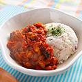 【肉なしヘルシースパイシー】ミックスビーンズと玉ねぎのトマトカレー|レシピ・作り方