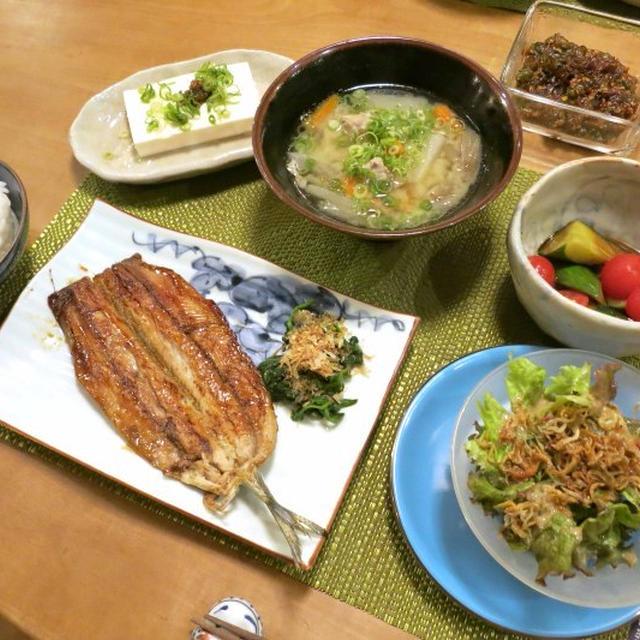 秋刀魚の蒲焼の晩ご飯 と クロアゲハ 誕生!!