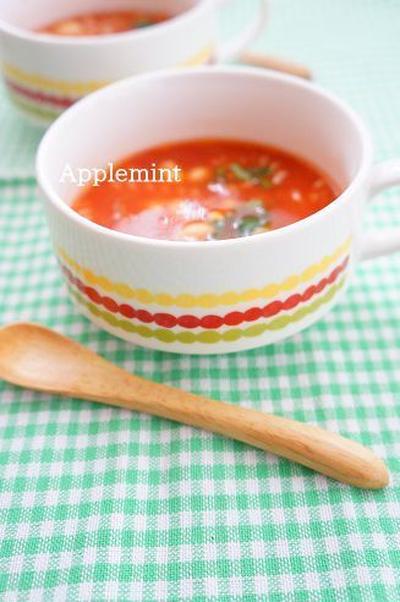 簡単5分野菜たっぷり大豆のミネストローネ