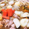 【レシピ】簡単★何この旨さっ★〆まで旨い★寒い日に★身体ポカポカ【豪快!スープカレー鍋】
