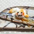 秋刀魚と猫おろし