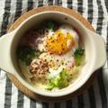落とし卵と野菜、モッツァレラチーズのココット焼き