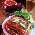 ナス&ズッキーニ&カッテージチーズのべジーラザーニャ ~ Veggie Lasagna