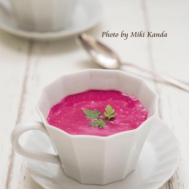 ピンクのスープ♪ビーツのビシソワーズ