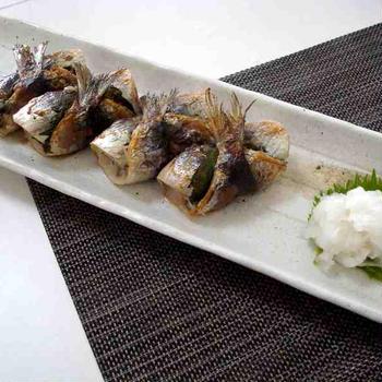 いわしの梅しそ巻き(Grilled Sardine Roll)
