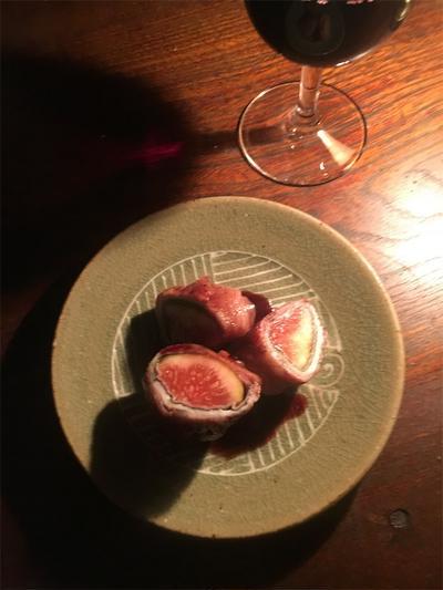 日の名残り【イチジクの豚肉巻き 赤ワインソース】