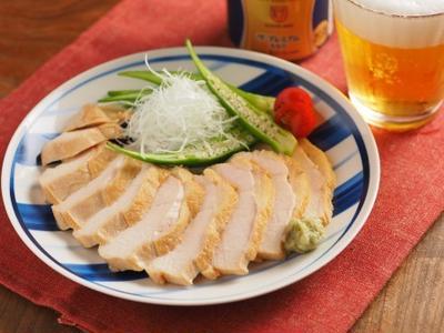 麺つゆで鶏むね肉の鴨ロース風
