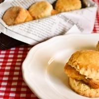 【スコーン&チキン ハニーバターサンド 】スイーツで作るサンドイッチが最高においしい!