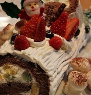 「ブッシュドノエル風」♪ クリスマスケーキ