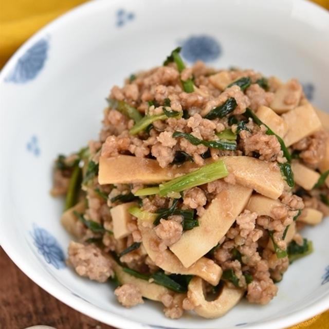 乾物を上手に活用して主菜おかずを作ろう♪高野豆腐とにらの甘辛そぼろあん