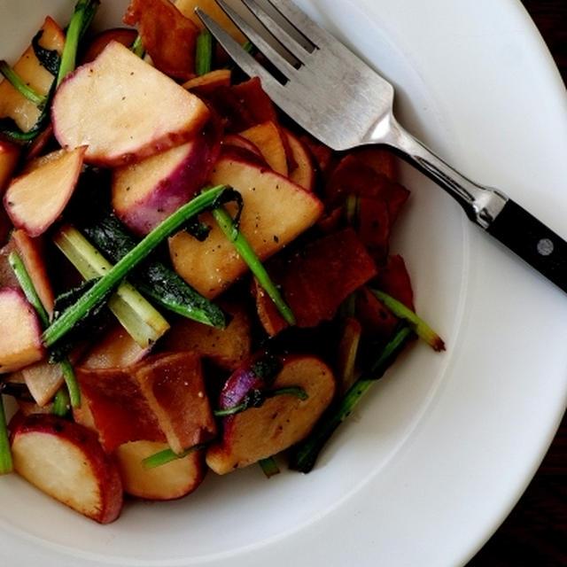 スパイスで好き嫌い解消〈朝食編〉・・カブの焼きサラダ&梅子はん♪