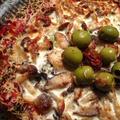 材料がなくても大丈夫:ラザニアのないラザニア、海老とアボカドのサラダ、柿と大根の和えもの by まゆニャンさん