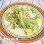 水菜のサラダで夜ご飯☆