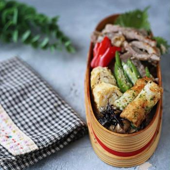 豚肩ロースの塩麹漬け弁当と玄米!