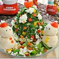 W大豆と野菜のヘルシーツリーサラダ&スノーマン