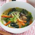 【簡単ぽかぽかダイエットスープ】サバ缶と小松菜の生姜スープ|レシピ・作り方