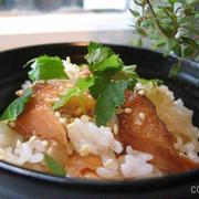 最近、魚を食べてないなと思ったら「焼き魚の混ぜご飯」がラクラク、おいしい♪