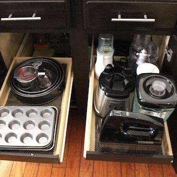 製菓・調理道具の収納
