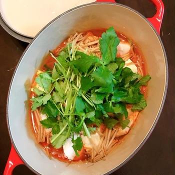 鱈の美味しさもりもり!旨辛な冬の鍋「テグタン」。
