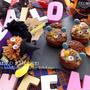 ゾンビくまnaクッキーシューアイス♡と、ハロウィン和菓子