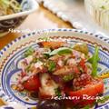 鉄板おつまみレシピ♪『タコとトマトオリーブのバジル風味マリネ』、ハロウィンパーティーのこと。