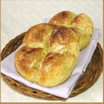 No knead ♪ フランスパン生地のシュガートップ
