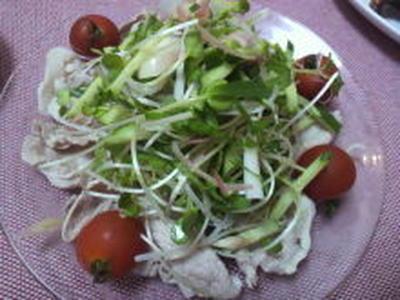 豚しゃぶ薬味サラダ