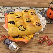 子供が喜ぶ☆かぼちゃとポピーのチョコ入りちぎりパン