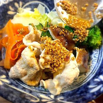 鍋風に食べる!冬野菜と豚しゃぶの温サラダ