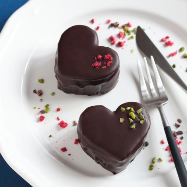 ハートのチョコレートケーキ ★バレンタインお菓子レシピ★